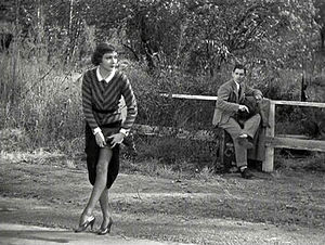 Claudette Colbert hitchhiking with Clark Gable.