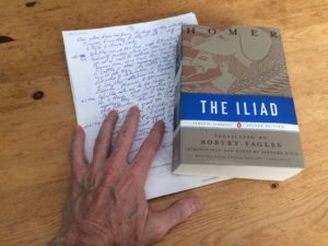 The Iliad, with notes, and my hand