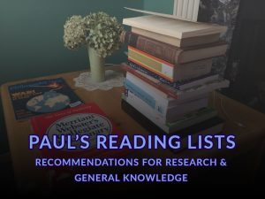 Paul's Reading Lists