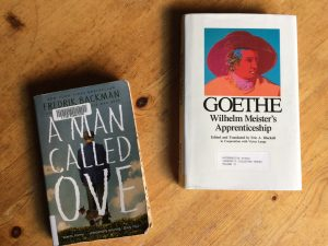 2 book covers: A Man Called Ove and Wilhelm Meister's Apprenticeship
