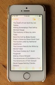 Reading List displayed on iPhone 5S