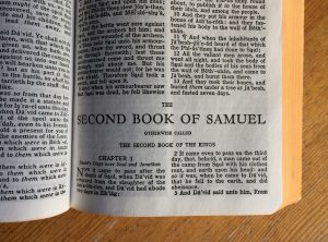 Page 1 of the 2nd Book of Samuel